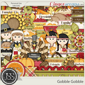 Gobble Gobble Digital Scrapbooking Kit