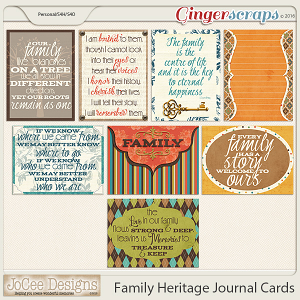 Family Heritage Journal Cards