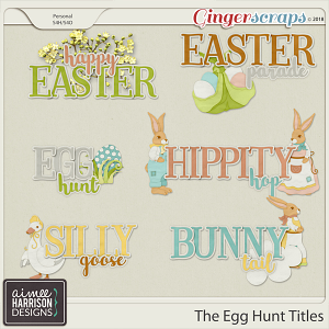 The Egg Hunt Word Art Titles by Aimee Harrison