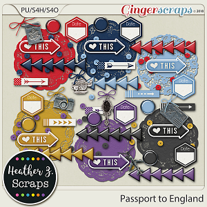 Passport to England ACCENTS by Heather Z Scraps