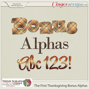The First Thanksgiving Bonus Alphas by Trixie Scraps Designs