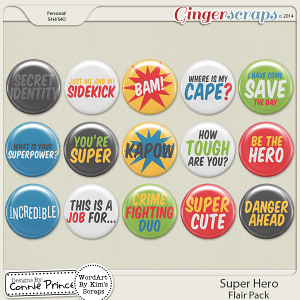 Super Hero - Flair Pack