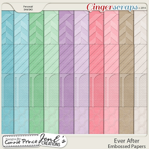 Ever After - Embossed Papers