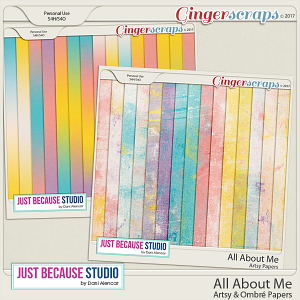 All About Me Artsy and Ombre Papers by JB Studio