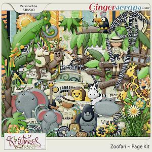 Zoofari Page Kit