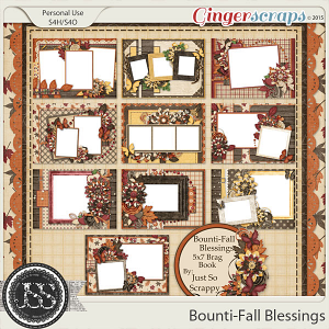 Bounti-Fall Blessings 5x7 Brag Book