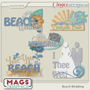 Beach Wedding WORD ART by MagsGraphics