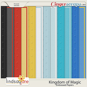 Kingdom of Magic Embossed Papers by Lindsay Jane