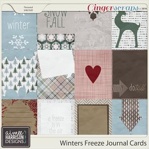 Winters Freeze Journal Cards by Aimee Harrison