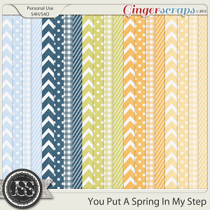 You Put A Spring In My Step Pattern Papers