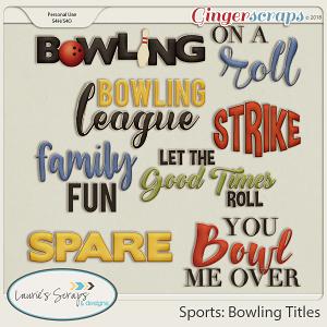 Sports: Bowling Titles
