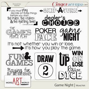 Game Night Word Art