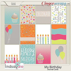 My Birthday Journal Cards by Lindsay Jane