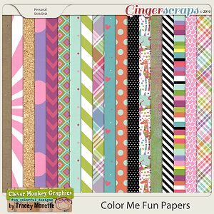 Color Me Fun Paper Pack by Clever Monkey Graphics