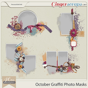 October Graffiti Photo Masks by JoCee Designs