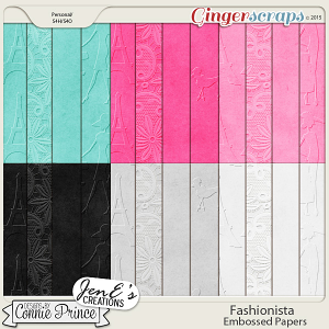 Fashionista - Embossed Papers