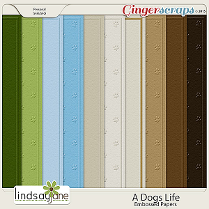 A Dogs Life Embossed Papers by Lindsay Jane
