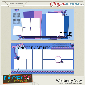 Wildberry Skies Template Pack by BoomersGirl Designs