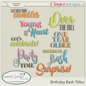 Birthday Bash Titles