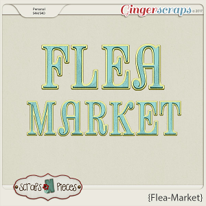 Flea Market Alpha by Scraps N Pieces