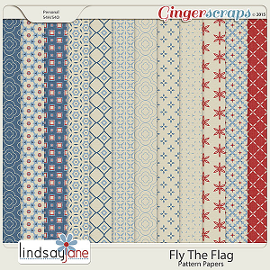 Fly The Flag Pattern Papers by Lindsay Jane
