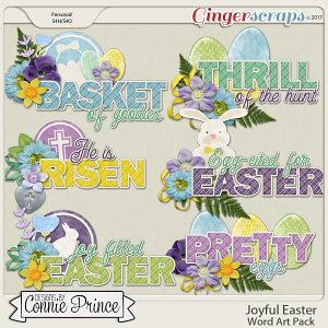 Joyful Easter - WordArt Pack