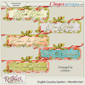 English Country Garden WordArt Set1