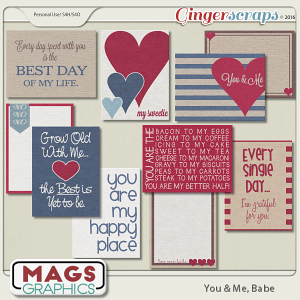 You & Me, Babe JOURNAL CARDS by MagsGraphics