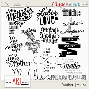 Mother Word Art