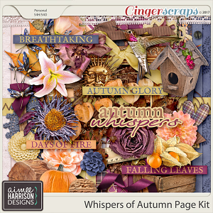 Whispers of Autumn Page Kit by Aimee Harrison