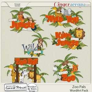 Zoo Pals - WordArt