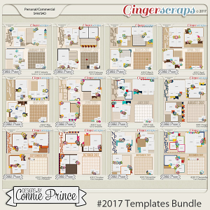 #2017 12x12 Templates Bundle by Connie Prince