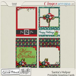Santa's Helper - Printable Greeting Cards