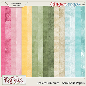 Hot Cross Bunnies Semi-Solid Papers