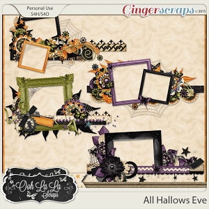 All Hallows Eve Cluster Frame Borders