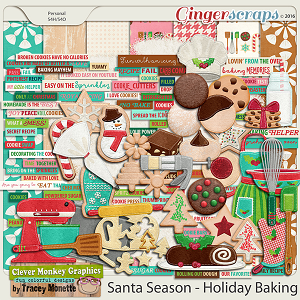 Santa Season Holiday Baking by Clever Monkey Graphics