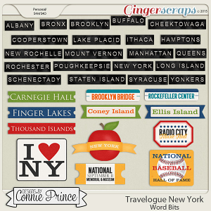 Travelogue New York - Word Bits