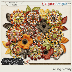 Falling Slowly Layered Flowers