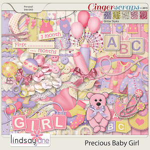Precious Baby Girl by Lindsay Jane