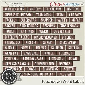 Touchdown Word Labels