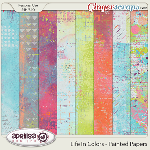 Life In Colors - Painted Papers by Aprilisa Designs