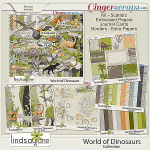 World of Dinosaurs Collection by Lindsay Jane