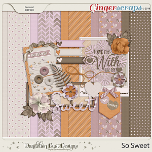 So Sweet Digital Scrapbook Kit By Dandelion Dust Designs