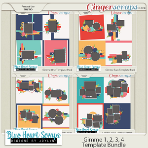 Gimme 1, 2, 3, 4 Template Bundle