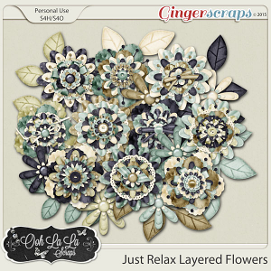 Just Relax Layered Flowers