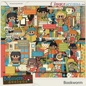 Bookworm by BoomersGirl Designs