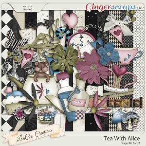 Tea With Alice Page Kit Part 2