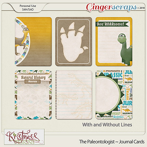The Paleontologist Journal Cards