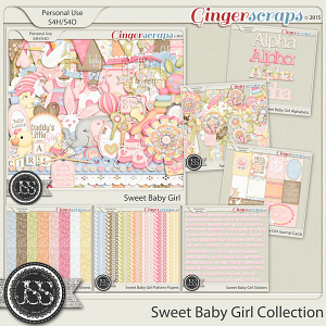 Sweet Baby Girl Digital Scrapbooking Collection