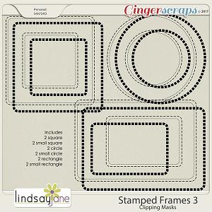 Stamped Frames 3 by Lindsay Jane